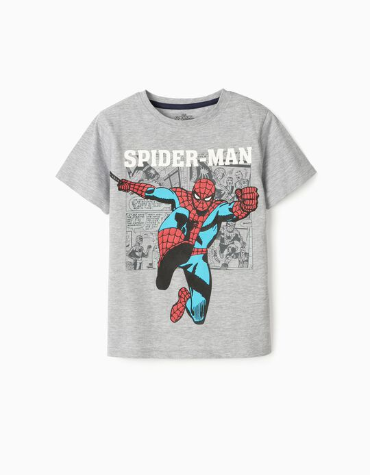 T-Shirt for Boys, 'Spider-Man', Grey