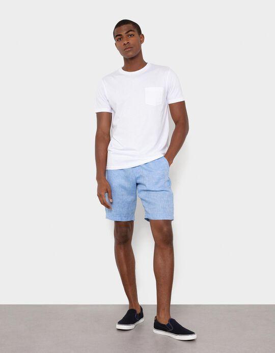 100% Linen Shorts, Men