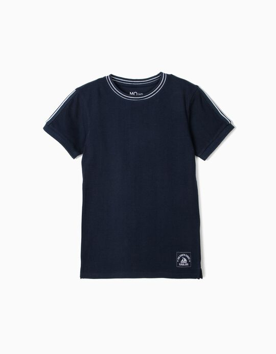 Piqué Knit T-Shirt