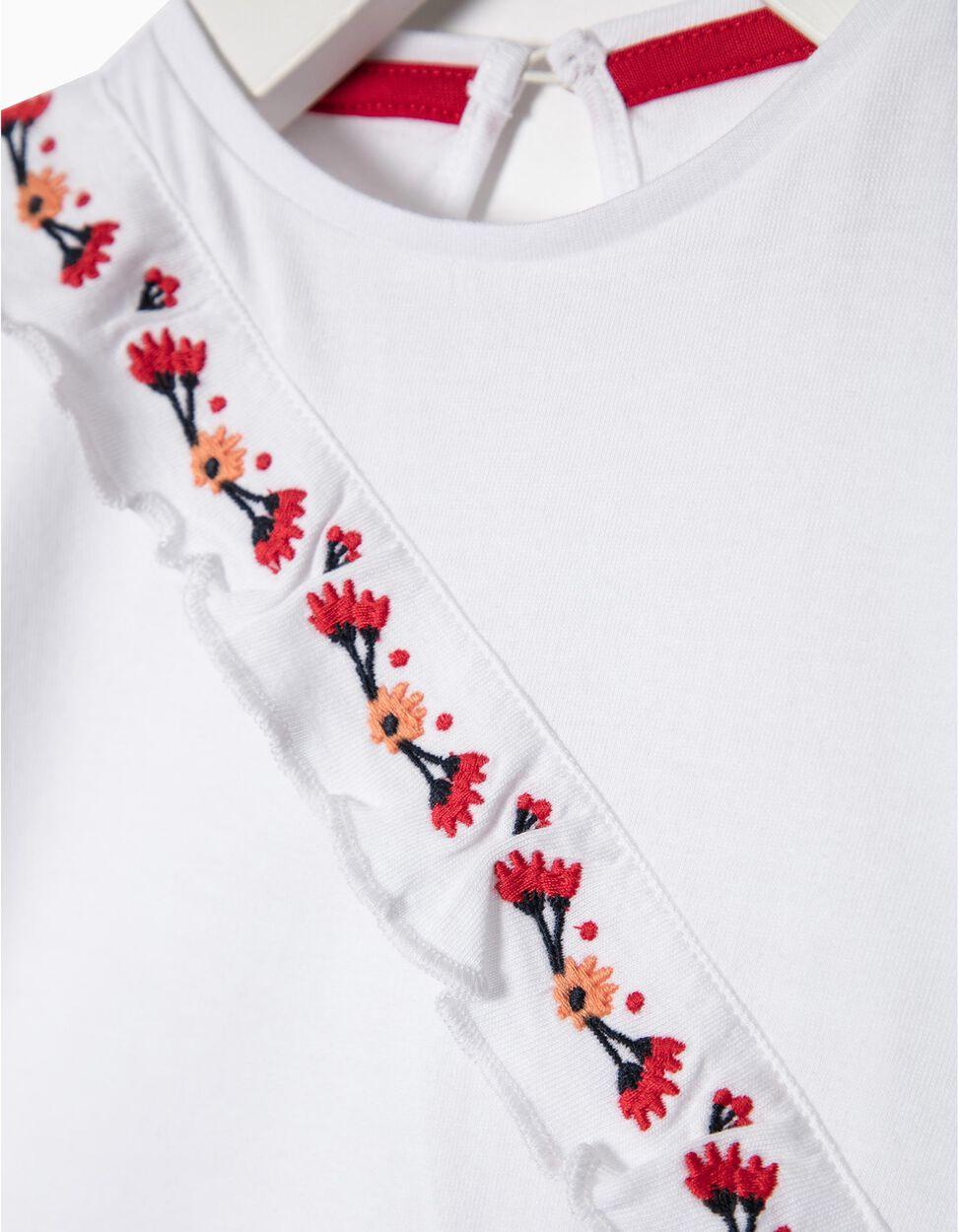T-shirt bordados Flores