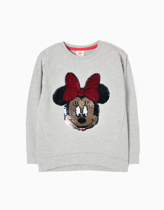 Sweatshirt Lantejoulas Minnie