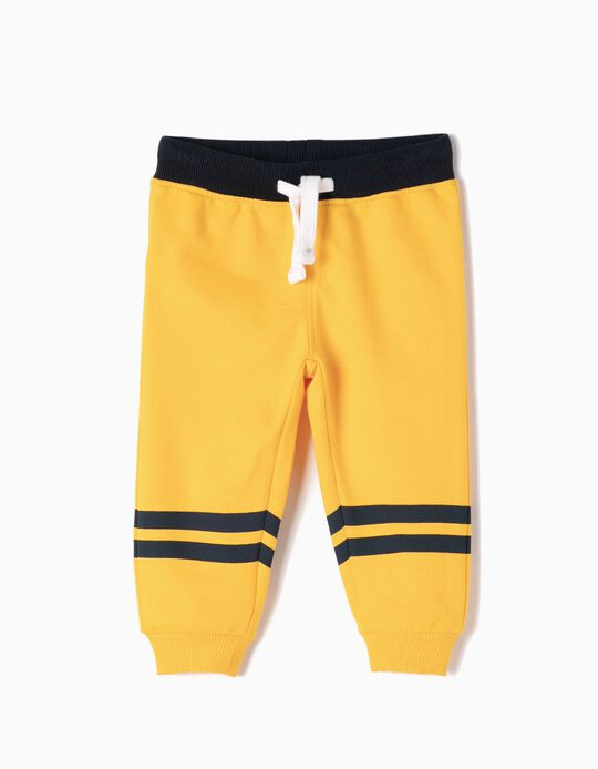 Yellow Joggers with Stripes