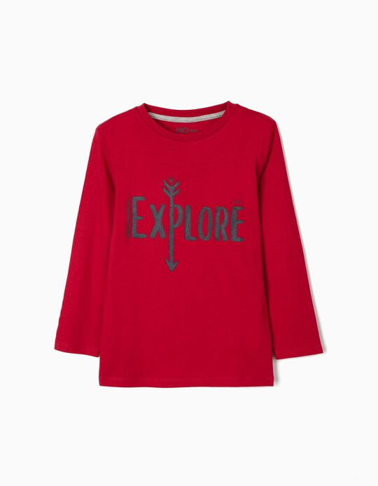 Long Sleeve Top, 'Explore'