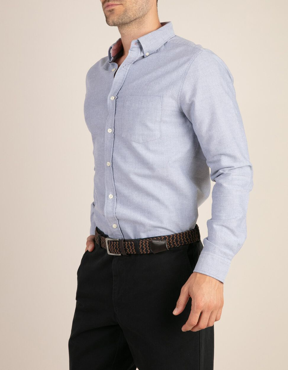 Camisa casual slim fit estilo Oxford