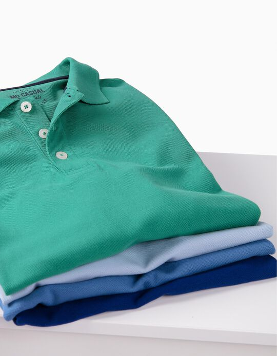 Polo Piquet Azul