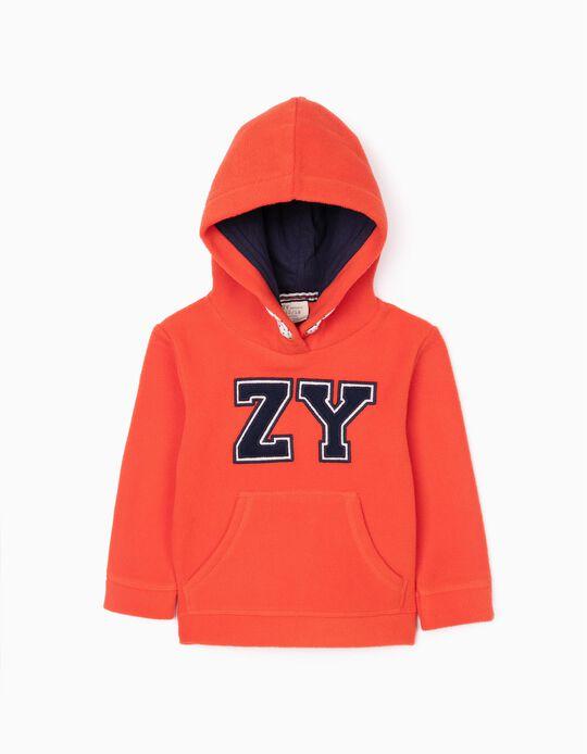 Polar Fleece Sweatshirt for Baby Boys 'ZY', Orange