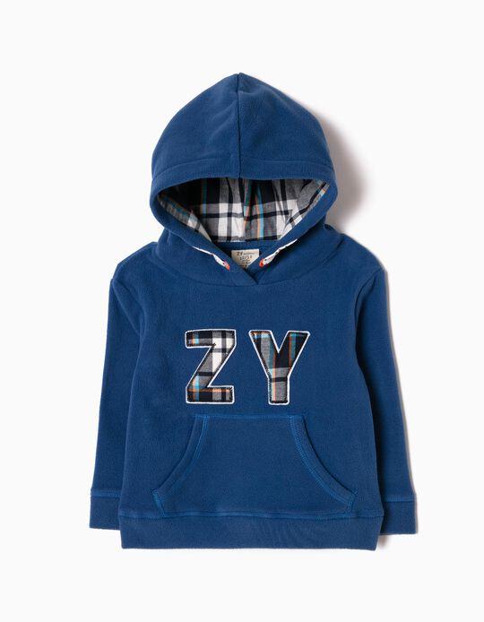 Sweatshirt Polar ZY Xadrez Azul