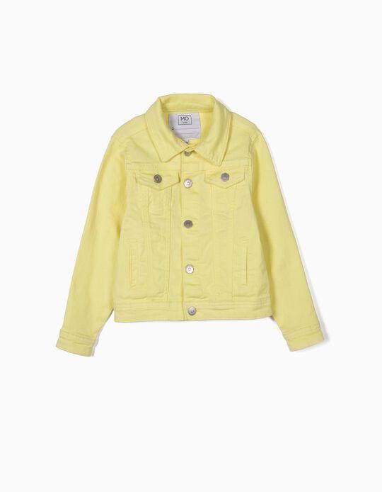 Neon denim jacket
