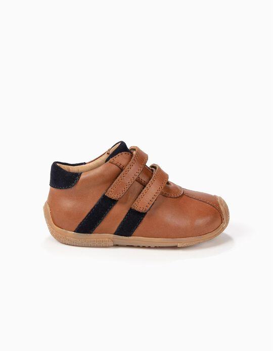 Botas de Pele Camel First Steps