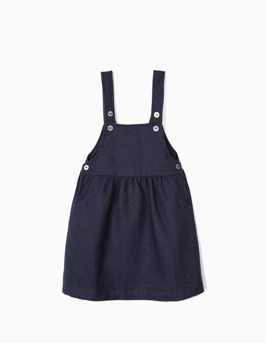 Pinafore Dress for Girls, Blue