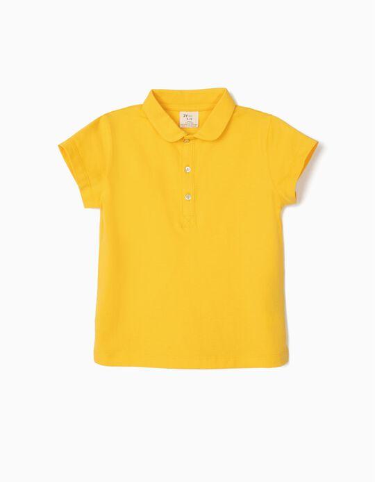 Polo para Menina, Amarelo