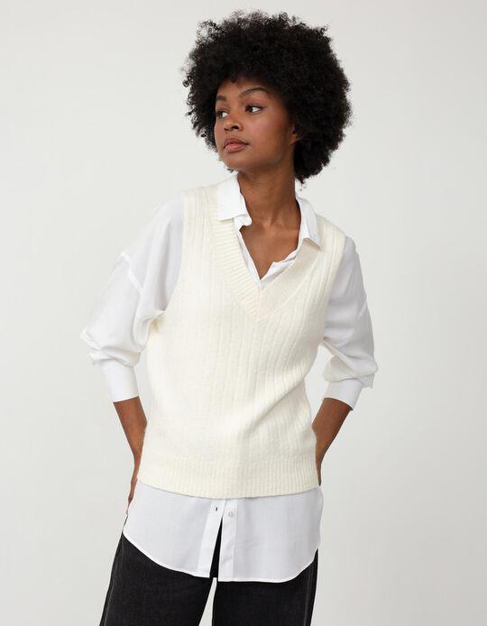 Oversized Blouse, Women, White