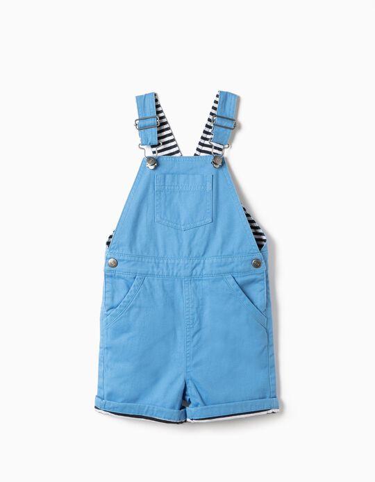 Jardineiras para Bebé Menino, Azul