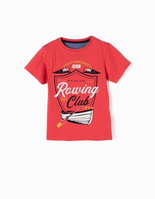 Red T-Shirt, Rowing Club