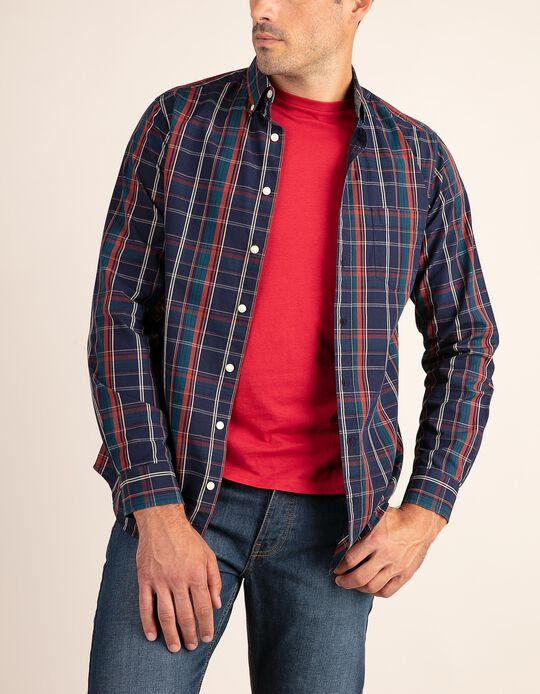 Casual, regular fit tartan shirt