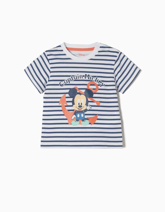 T-shirt Riscas Captain Mickey