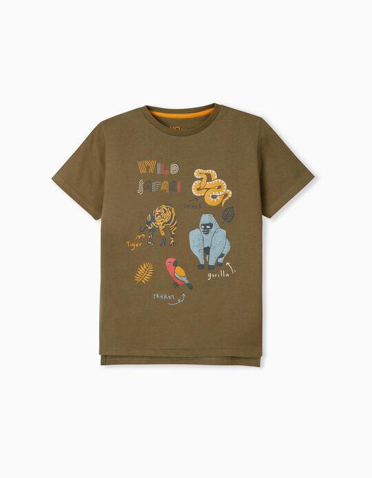 T-shirt with Print, 'Wild Safari'