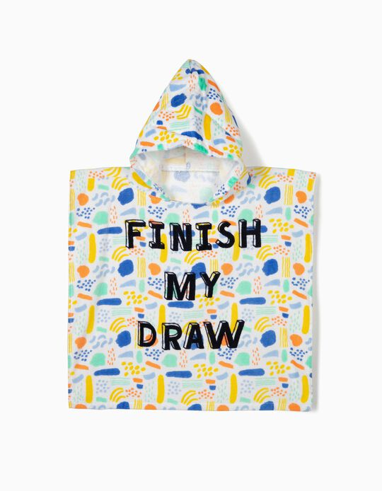 Poncho de Praia para Bebé 'Finish My Draw', Multicolor