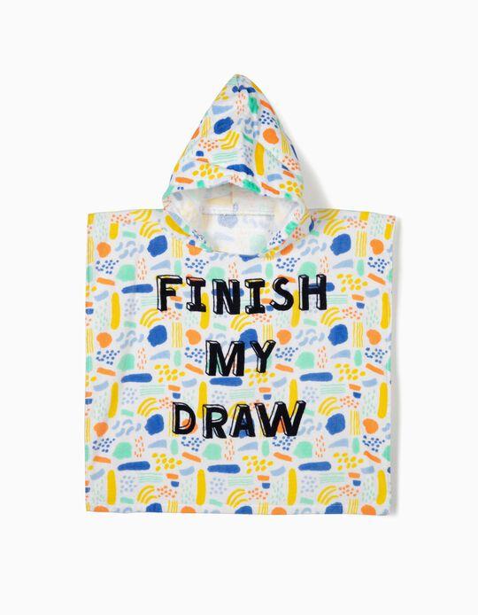 Poncho de Praia para Bebé 'Finish My Draw', Multicolor