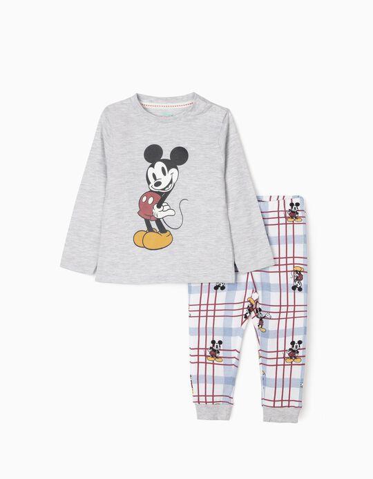 Pijama para Bebé Menino 'Mickey', Cinza