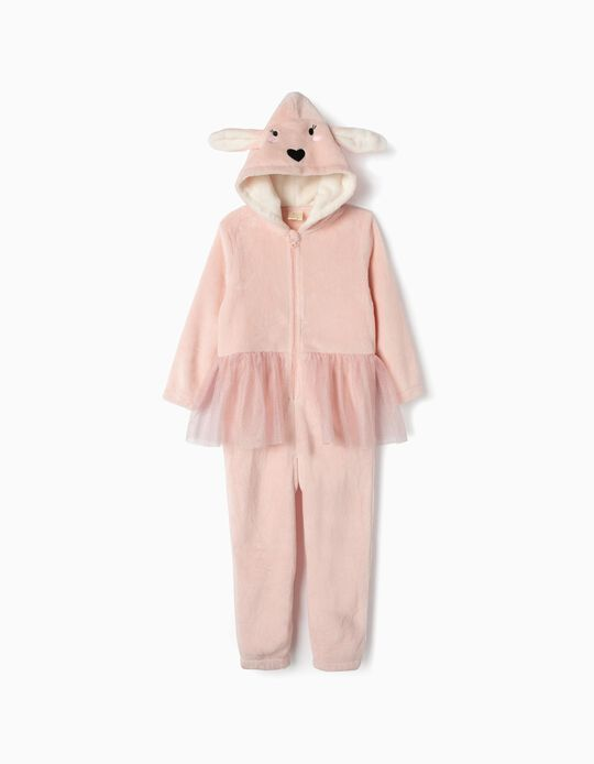 Onesie for Girls 'Bunny Ballerina', Pink