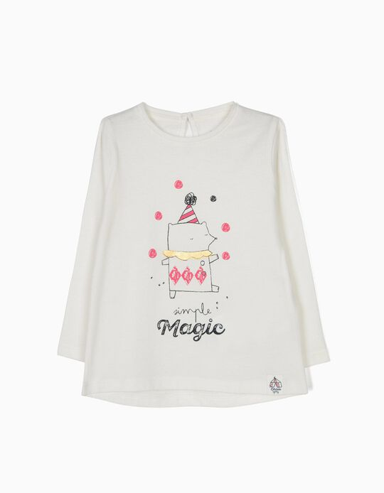 White Long-Sleeved Top, Circus