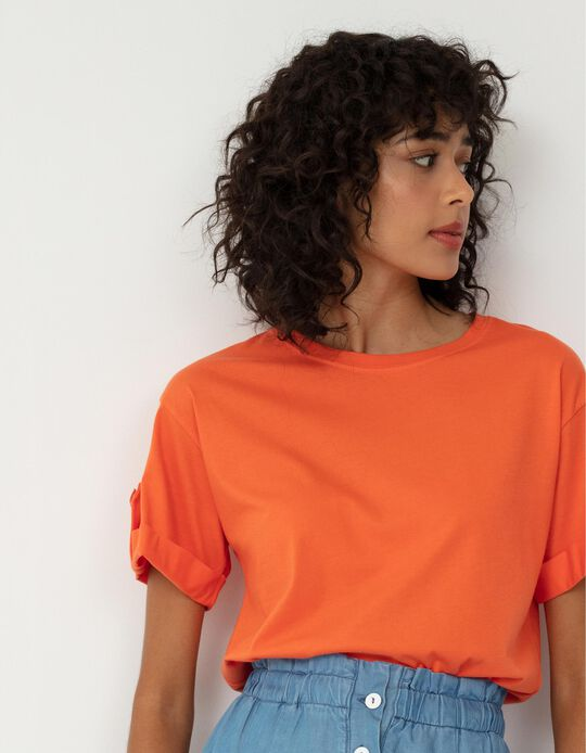 T-shirt Made in Portugal for Women, Orange