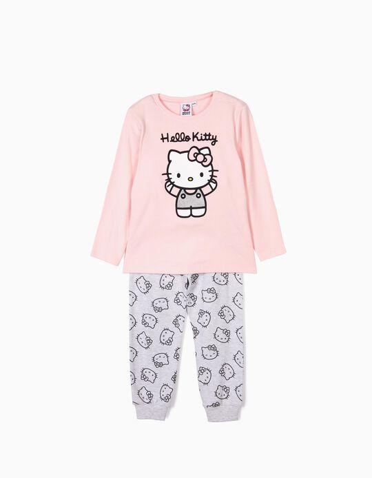 Pijama para Menina 'Hello Kitty', Rosa e Cinza