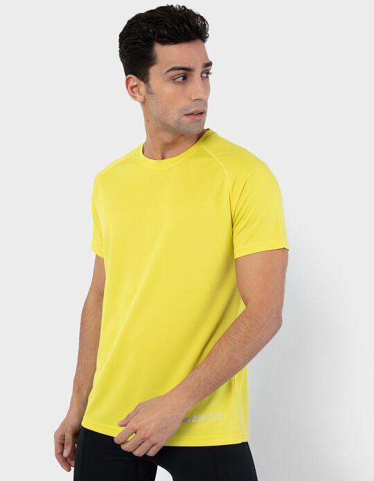 T-shirt Técnica, Malha Respirável, Homem