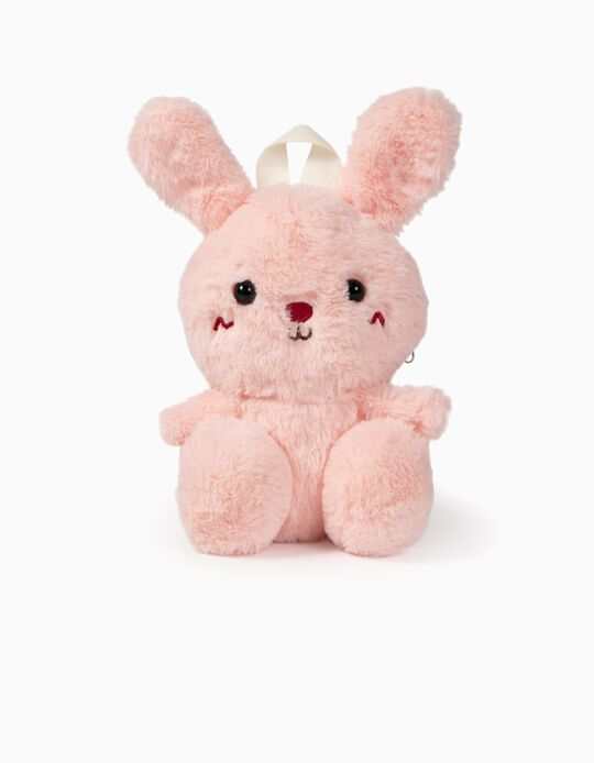 Plush Backpack for Girls 'Bunny', Pink
