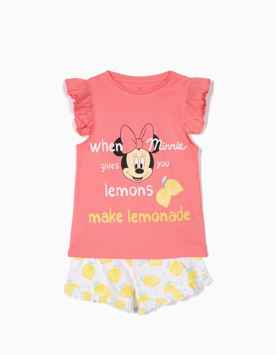 Pijama para Menina 'Minnie Lemonade', Rosa e Branco