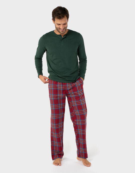 Calças pijama xadrez