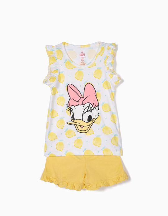 Pijama para Menina 'Daisy Lemonade', Amarelo e Branco