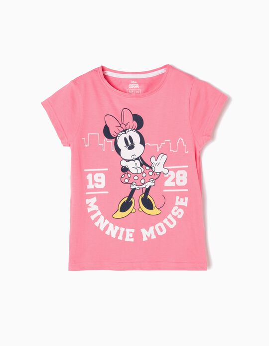 T-shirt Minnie Kiss Rosa