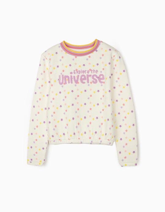 Sweatshirt para Menina 'Explore the Universe', Branco