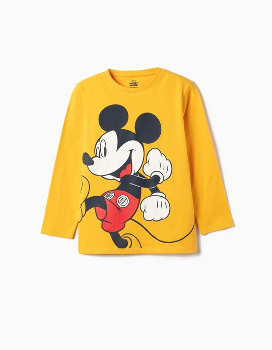 Long-sleeve Top for Girls 'Mickey', Yellow