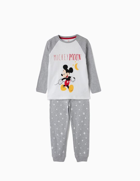 Long-Sleeve Pyjamas for Boys 'Mickey Moon', Grey/White