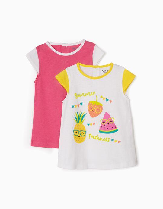 T-shirt frutas, pack de 2