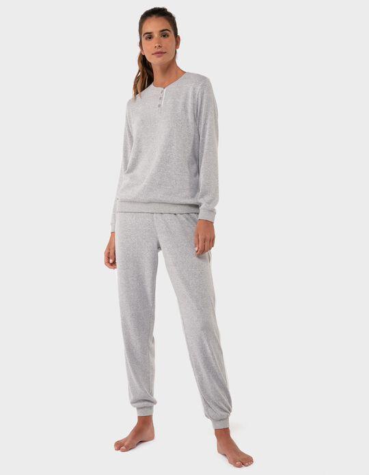 Pijama de Malha com Risca