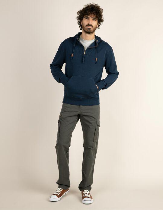 Sweatshirt garment dyed