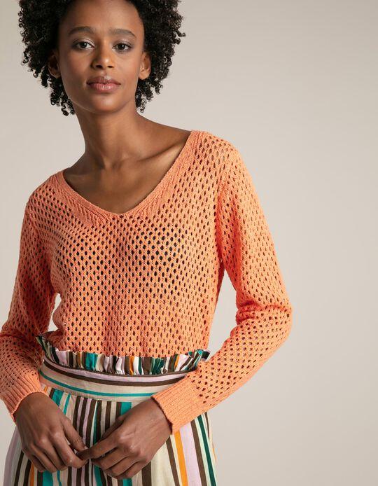 Camisola de malha tricotada