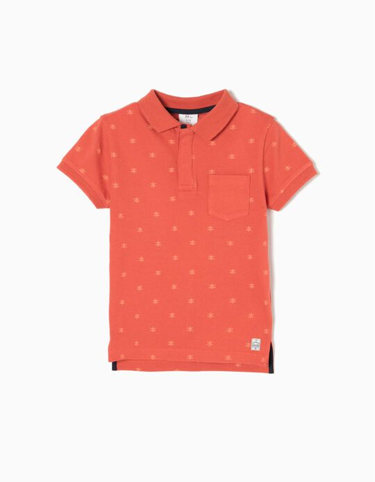 Orange Short-Sleeved Polo Shirt, Japan