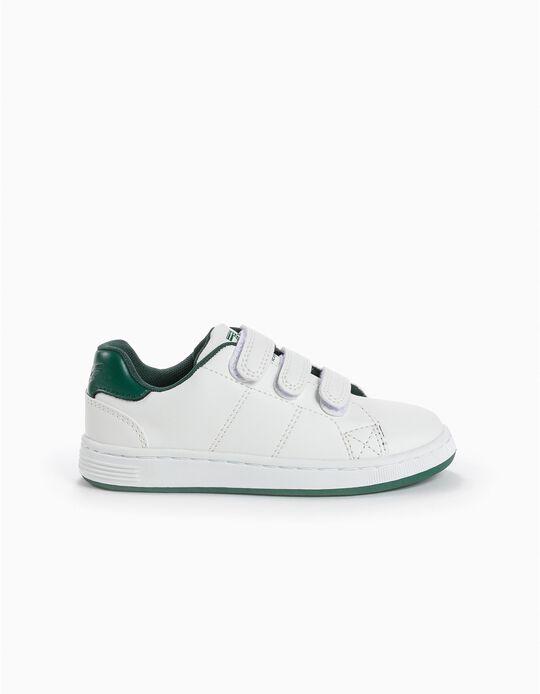 Sapatilhas Velcro Branco e Verde