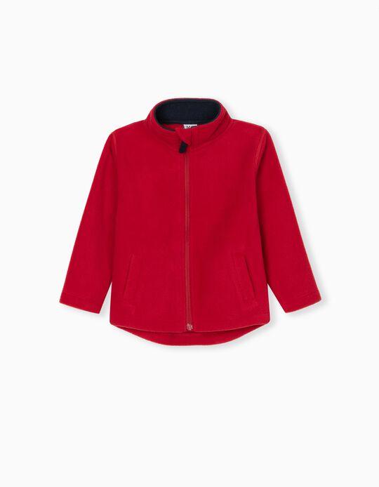 Polar Fleece Jacket for Babies, Red