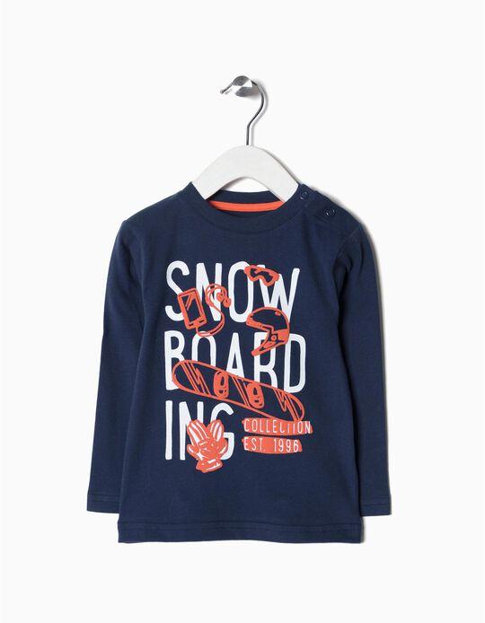 T-shirt manga comprida Snowboard
