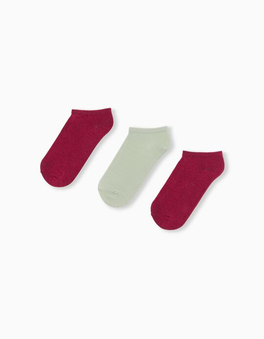 3 Pairs of Trainer Socks, for Women