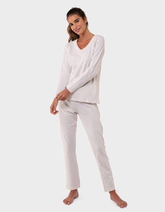 Pyjamas with Lace Trim