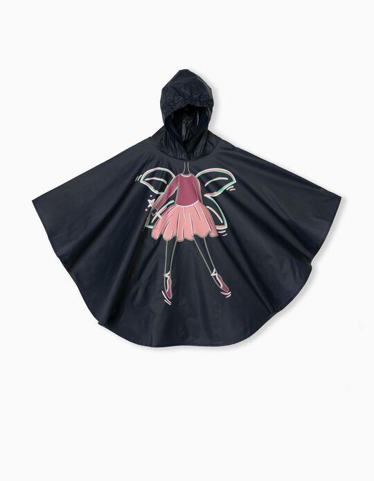 Hooded Raincover for Girls, Dark Blue