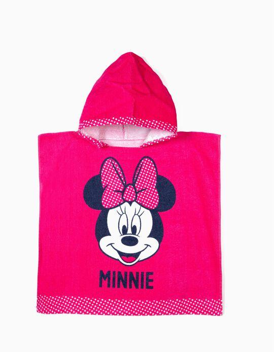 Poncho de Praia para Bebé Menina 'Minnie', Rosa