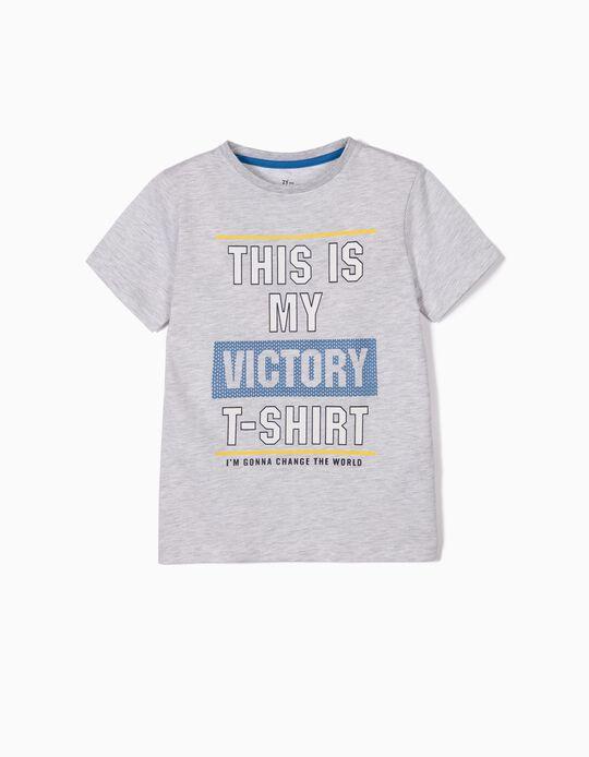 T-shirt para Menino 'Victory T-shirt', Cinza